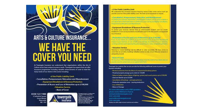 Towergate flyer design, Newcastle