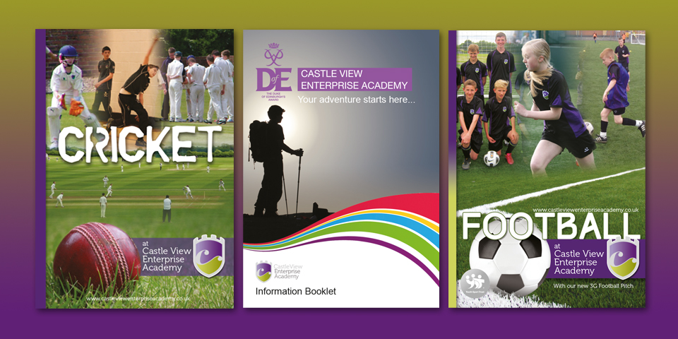 A series of designs for Castle View Academy in Sunderland including a Duke of Edinburgh Award guide booklet.