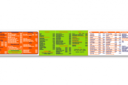 Large indoor menu boards with a back light in Ashington. Designed, printed and install by us.