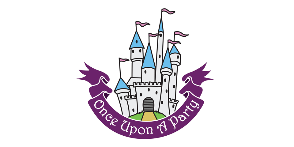 Once upon a Party logo design Durham