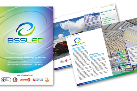 36 page brochure design for BSS LED in Ashington. Designed by us and distributed in the South East.