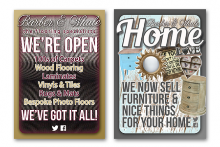 A1 poster design for a flooring store in Sunderland