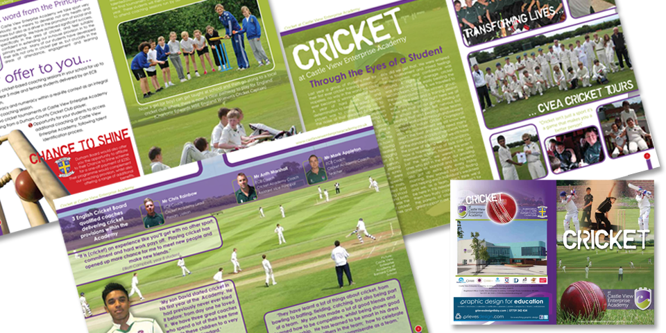 8 page brochure design.