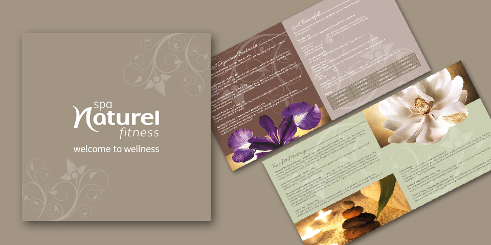 Brochure design for Spa natural in Manchester. This is the second edition of the brochure designed by us for the past 2 years.