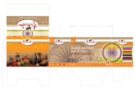 Packing, or a box design for Anandas Gourmet in Yarm.
